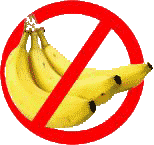 NO bananas it's bad luck